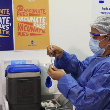 Reporte 13 de abril de vacunación contra Covid-19 en Medellín.