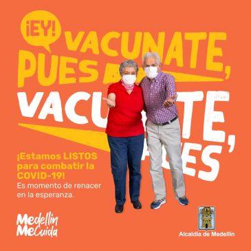 Reporte de vacunación contra Covid-19 en Medellín. 26 de abril