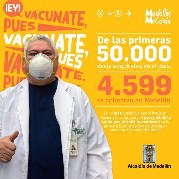 Reporte de vacunación contra Covid-19 en Medellín. 27 de abril