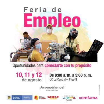 Una oportunidad para conectarte con tus propósitos: Visítanos en nuestra Feria de empleo